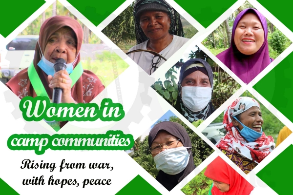 Women in camp communities- rising from war, with hopes, peace